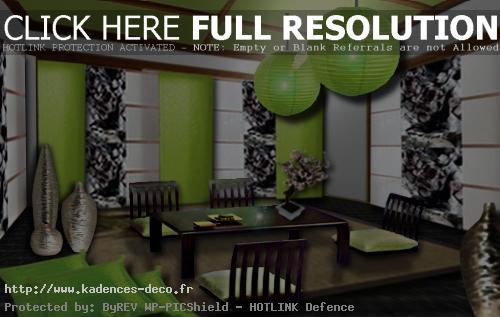 univers déco salon zen bambou