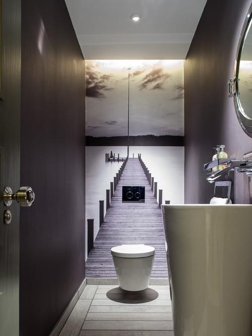 modèle déco wc contemporain