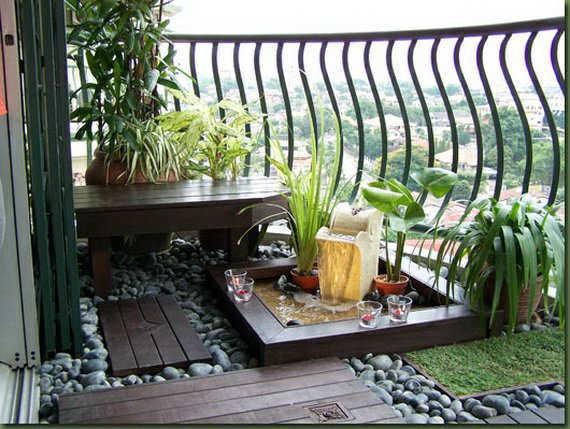exemple décoration balcon zen