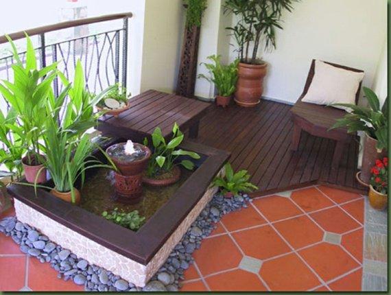agencement décoration balcon zen