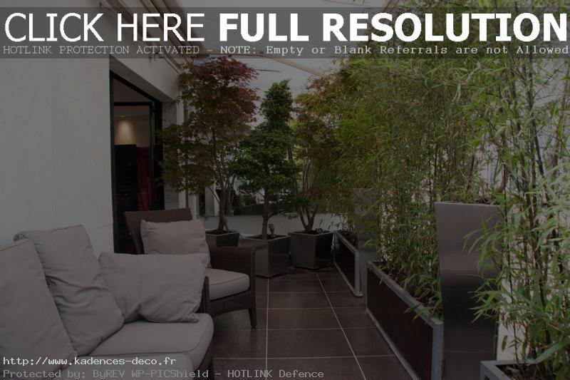 modèle décoration balcon zen