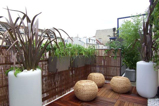 organisation décoration balcon zen