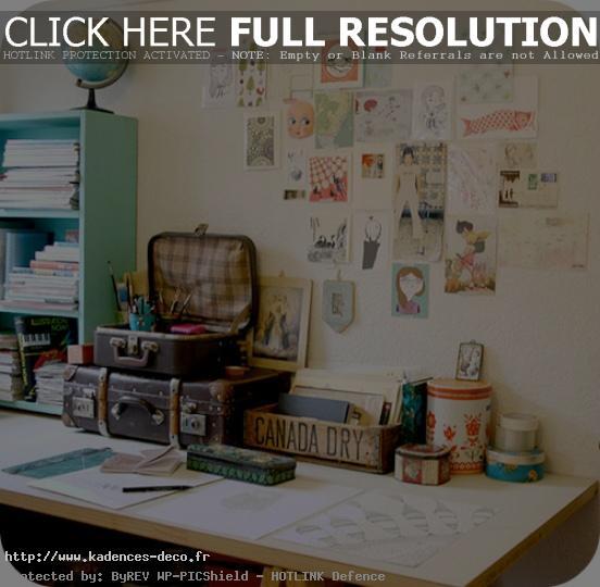 décoration bureau cosy