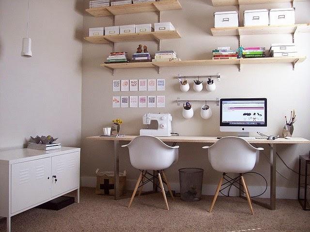agencement décoration bureau cosy