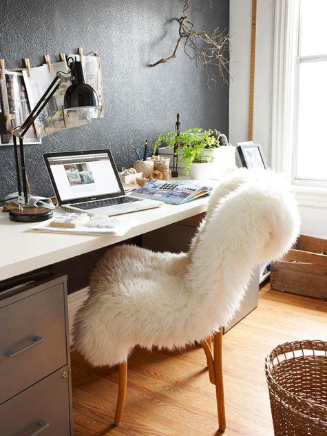 organisation décoration bureau cosy