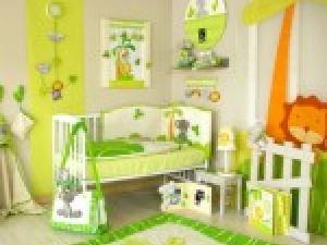 idée décoration chambre bebe theme jardin