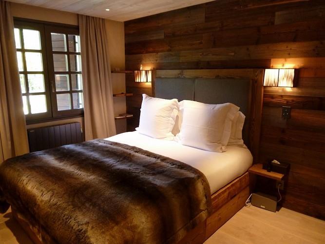Décoration chambre bois montagne