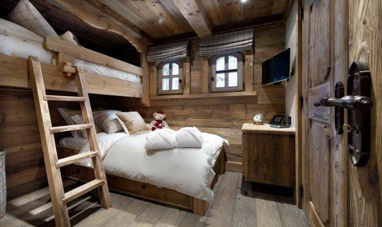 aménagement décoration chambre bois montagne