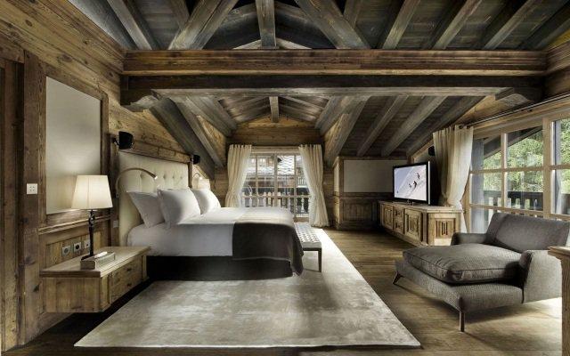 univers décoration chambre bois montagne