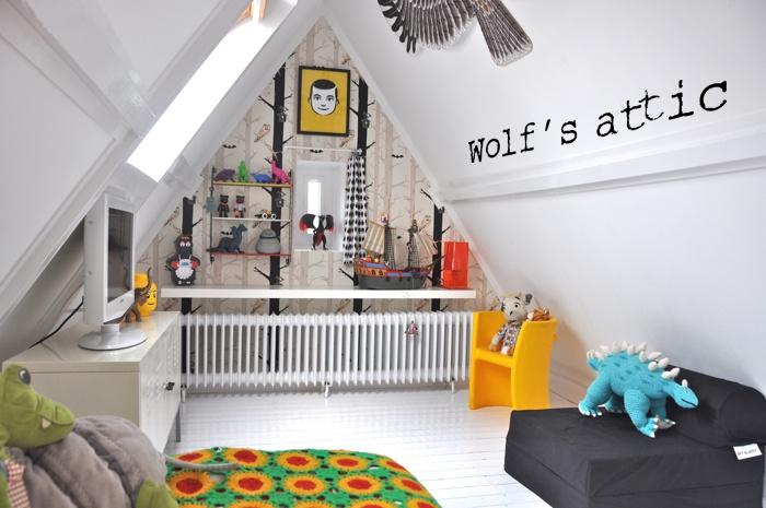 idée décoration chambre mansardee garcon