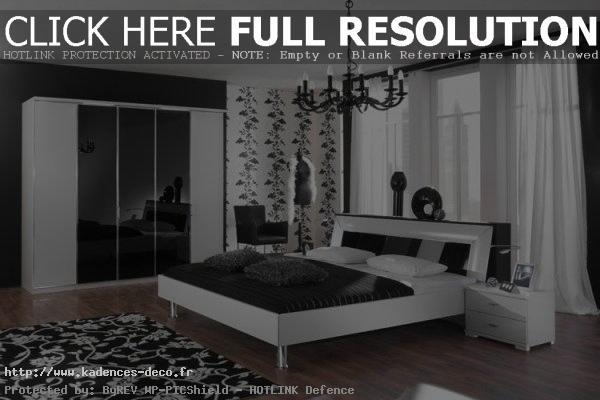 Décoration chambre moderne noir blanc