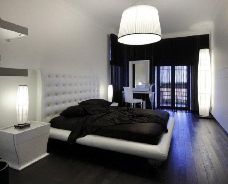 idée décoration chambre moderne noir blanc