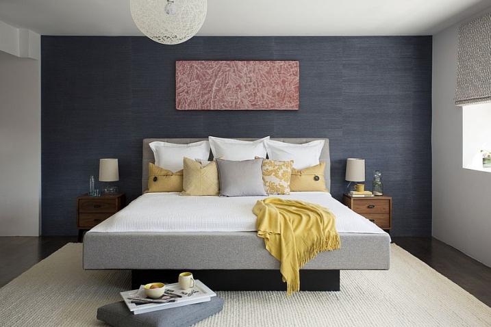 univers décoration chambre mur gris