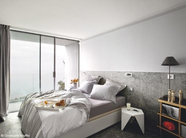organisation décoration chambre mur gris