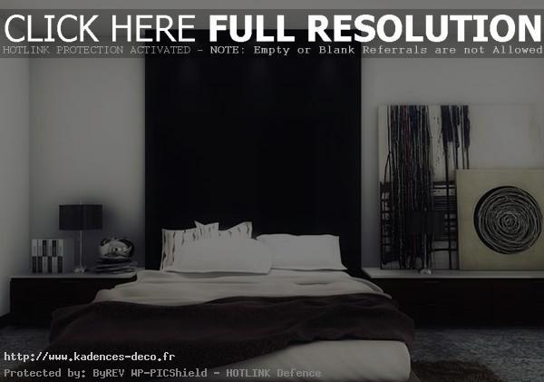 Décoration chambre noire et blanc