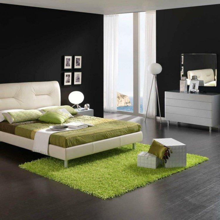 organisation décoration chambre noire et blanc