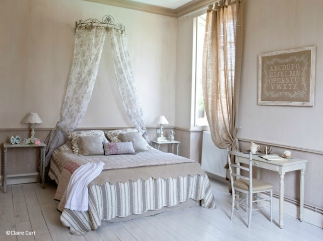 exemple décoration chambre shabby chic
