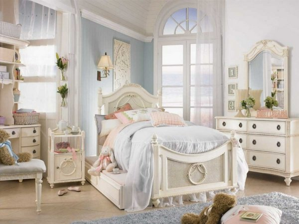 photo décoration chambre shabby chic