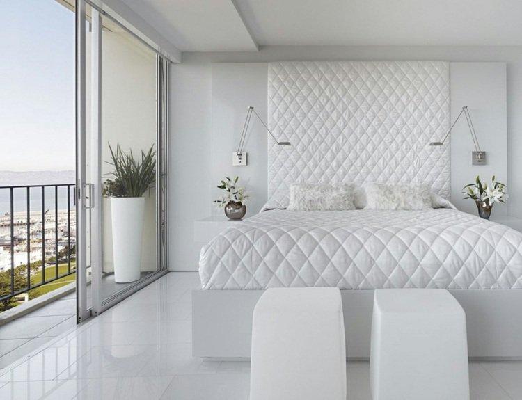 modèle décoration chambre toute blanche