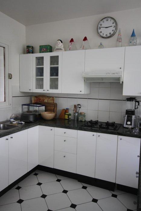 décoration cuisine blanc noire