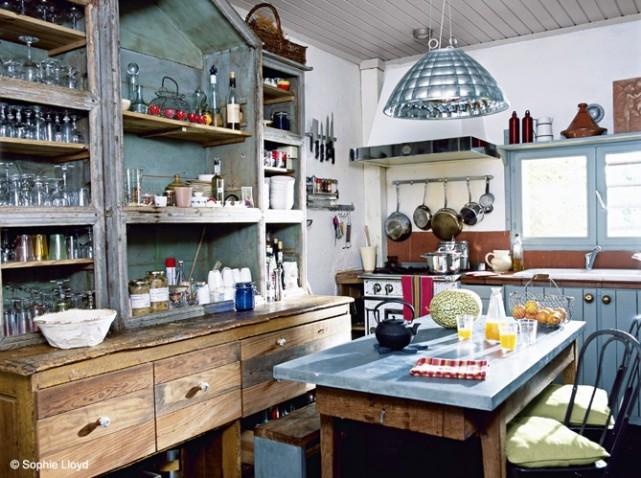 aménagement décoration cuisine fermette