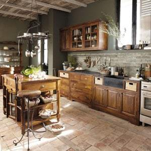 photo décoration cuisine fermette