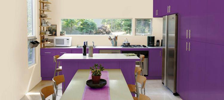 exemple décoration cuisine peinture couleur