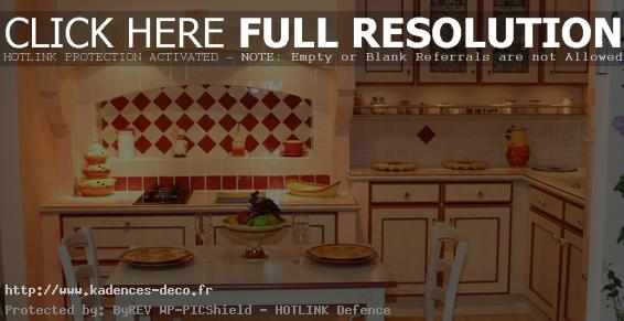 idée décoration cuisine traditionnelle