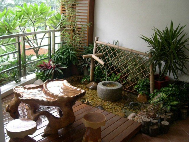 Décoration japonaise balcon