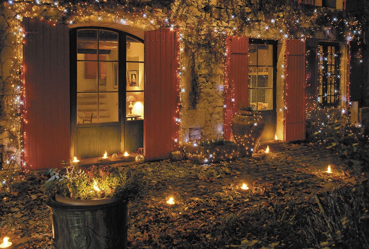 exemple décoration jardin noel