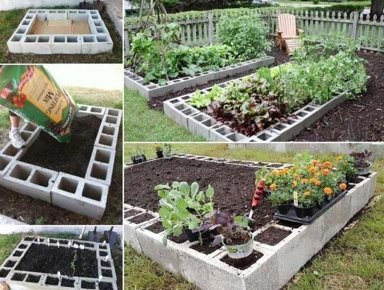 photo décoration jardin potager