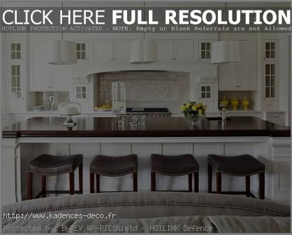 modèle décoration maison cuisine americaine