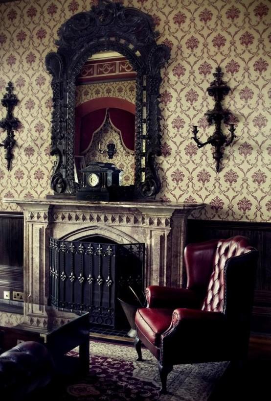 aménagement décoration maison gothique