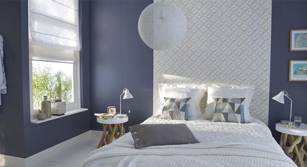 exemple décoration maison peinture papier peint