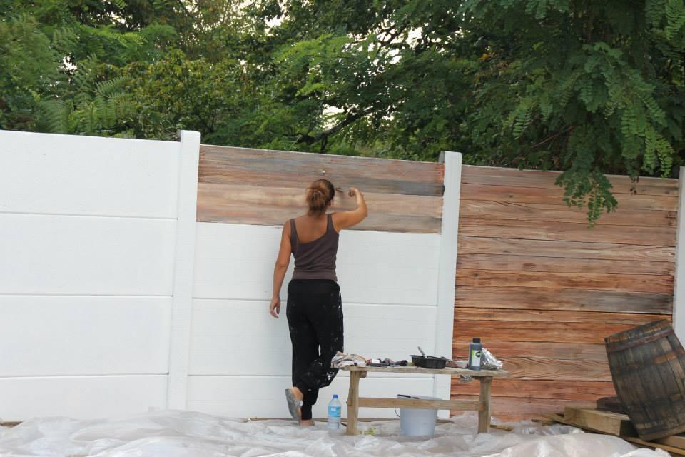exemple décoration mur de terrasse