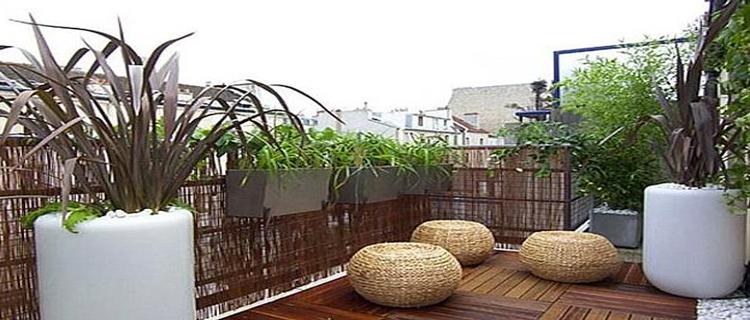 agencement décoration mur de terrasse