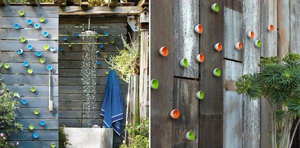 photo décoration mur de terrasse