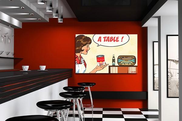 idée décoration murale cuisine contemporaine