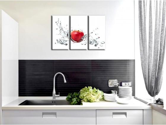 exemple décoration murale cuisine contemporaine
