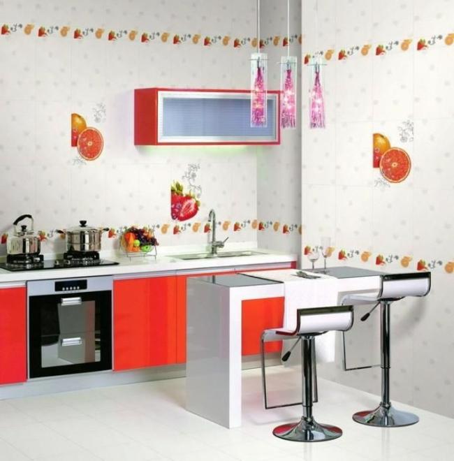 modèle décoration murale cuisine contemporaine