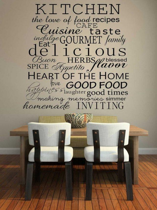 photo décoration murale cuisine contemporaine