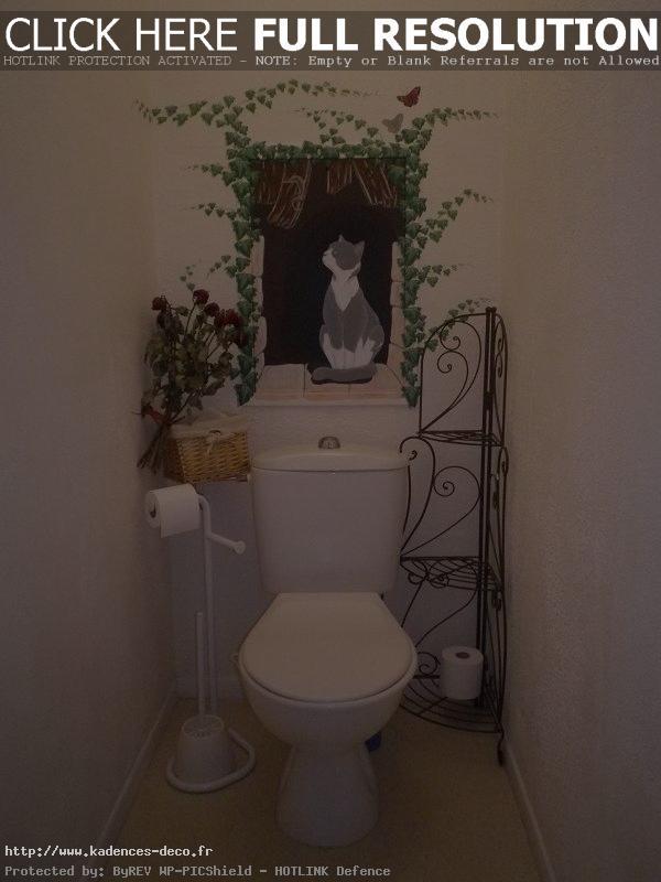 décoration murale toilettes
