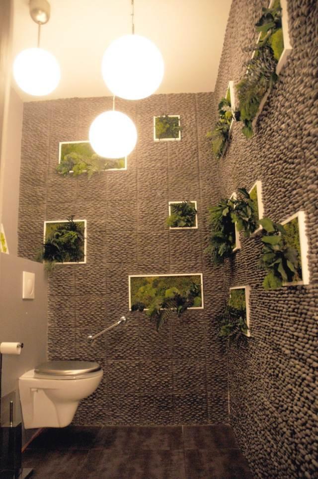 aménagement décoration murale toilettes