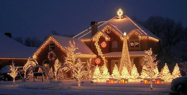 aménagement décoration noel maison lumineuse