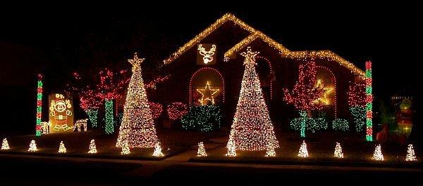 univers décoration noel maison lumineuse