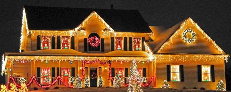 organisation décoration noel maison lumineuse