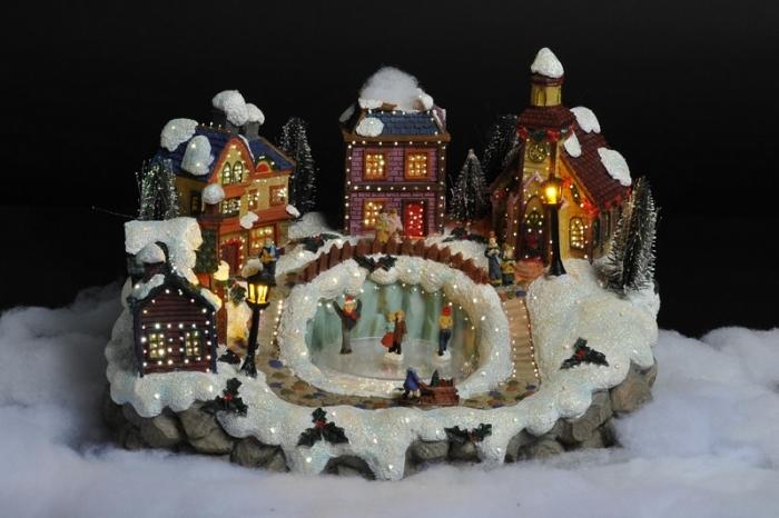 photo décoration noel maison lumineuse