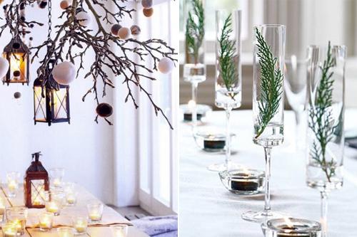 aménagement décoration noel nature maison