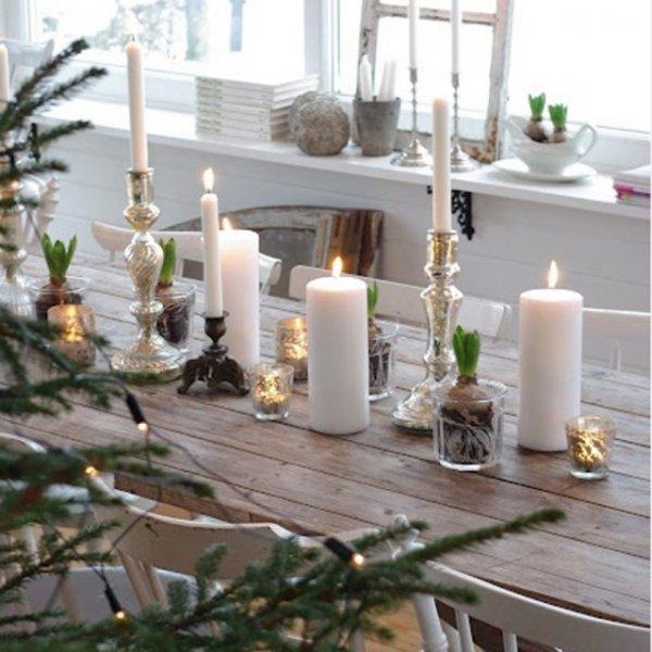 modèle décoration noel nature maison