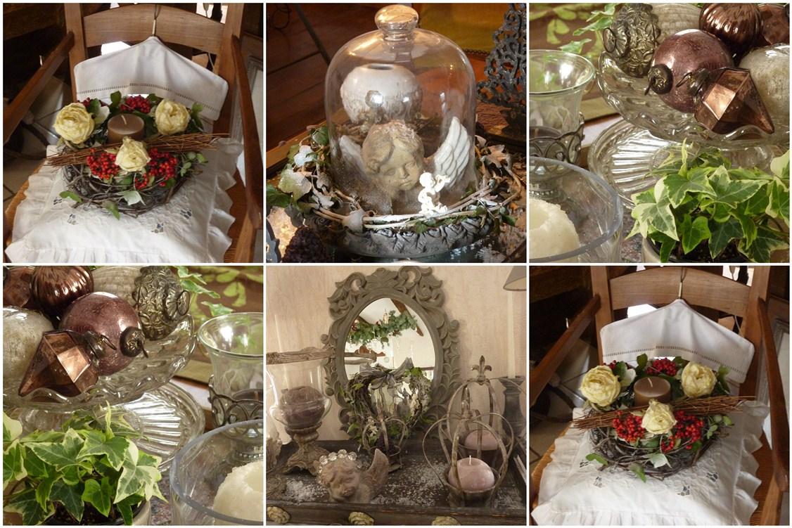 organisation décoration noel nature maison